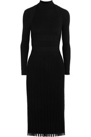 Cédric Charlier Ribbed stretch-knit dress