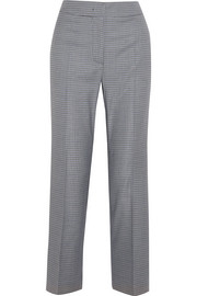 Cédric Charlier Plaid wool-blend straight-leg pants