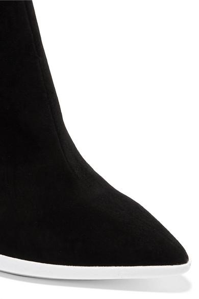 45af1074730 Grosgrain-trimmed suede ankle boots