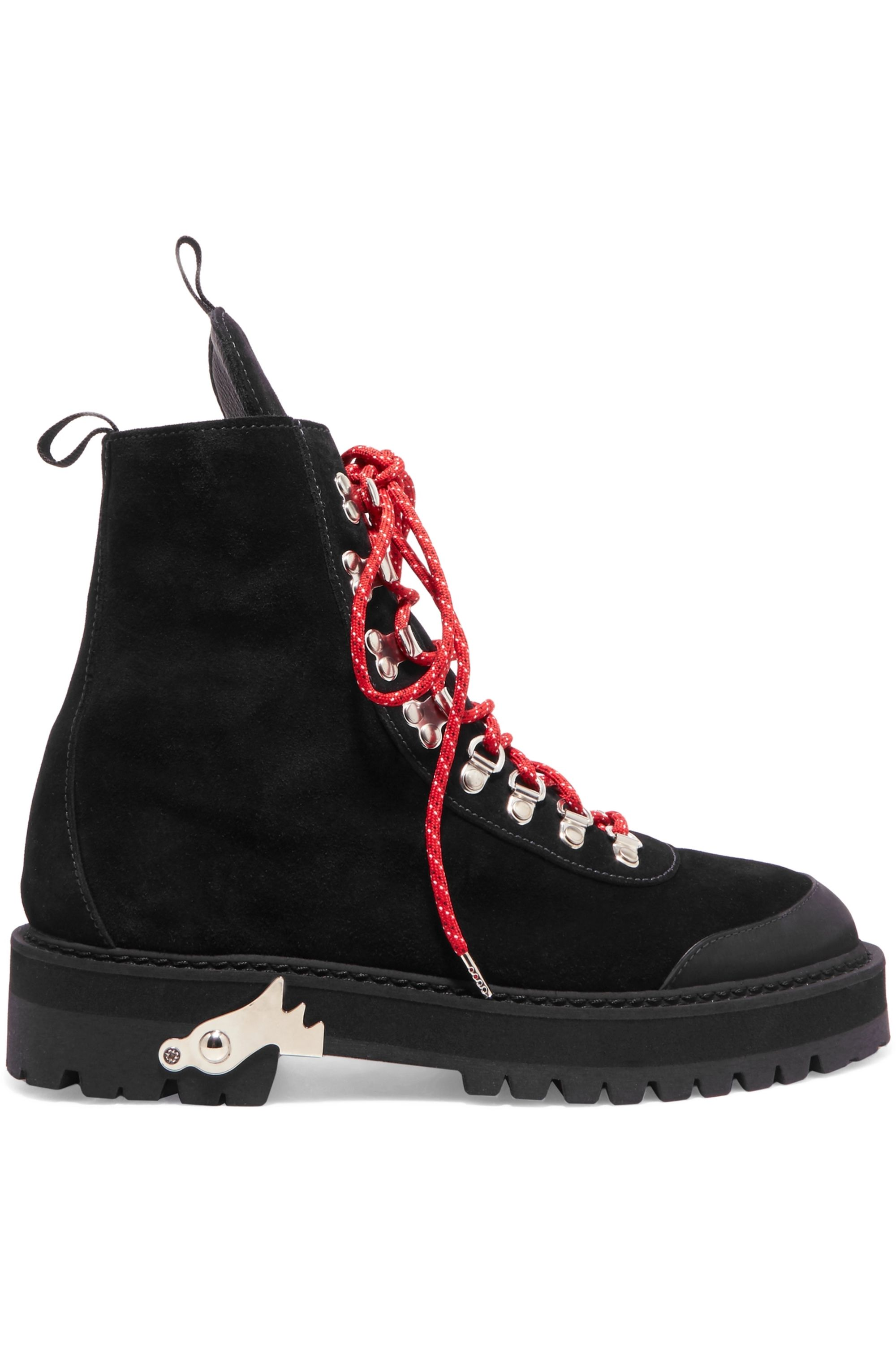 Black Hiking suede boots   Off-White