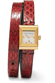 Gucci Ayers and gold-tone watch