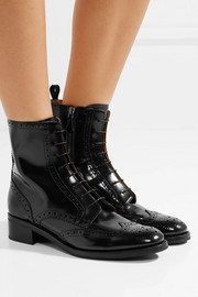 Church's Sylvie studded glossed-leather ankle boots