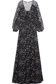 Paul & Joe Floral-print crinkled silk-chiffon maxi dress