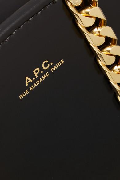 A.P.C. Atelier de Production et de Création Luna Schultertasche aus Lackleder
