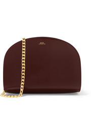 Luna patent-leather shoulder bag