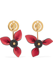 Marni Gold-plated and leather earrings