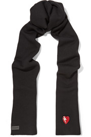 Saint Laurent Appliquéd wool scarf
