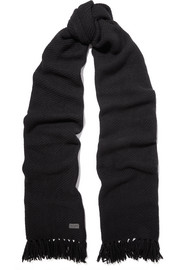 Saint Laurent Fringed cashmere scarf