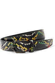 Saint Laurent Ceinture en serpent d'eau
