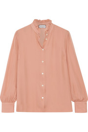 Paul & Joe Zelina ruffled silk-georgette  shirt