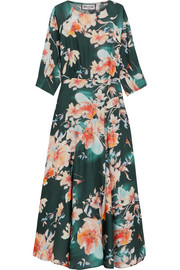 Paul & Joe Floral-print crepe de chine midi dress