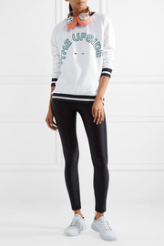 Sid flocked printed cotton-terry sweatshirt