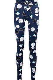 Match Point printed stretch leggings