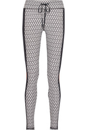 Majestic paneled printed stretch leggings