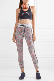 Fire and Rain printed stretch leggings
