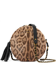 Jérôme Dreyfuss Remi leopard-print calf hair and leather shoulder bag
