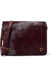 Igor calf hair and leather shoulder bag