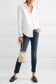 Looker cropped frayed mid-rise skinny jeans