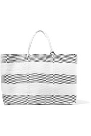 Weekender large woven raffia-effect tote