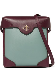 Pristine mini two-tone leather and suede shoulder bag