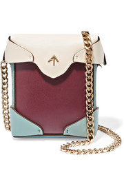 Manu Atelier Pristine micro suede-trimmed leather shoulder bag