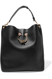 J.W.Anderson Hobo Pierce textured-leather shoulder bag
