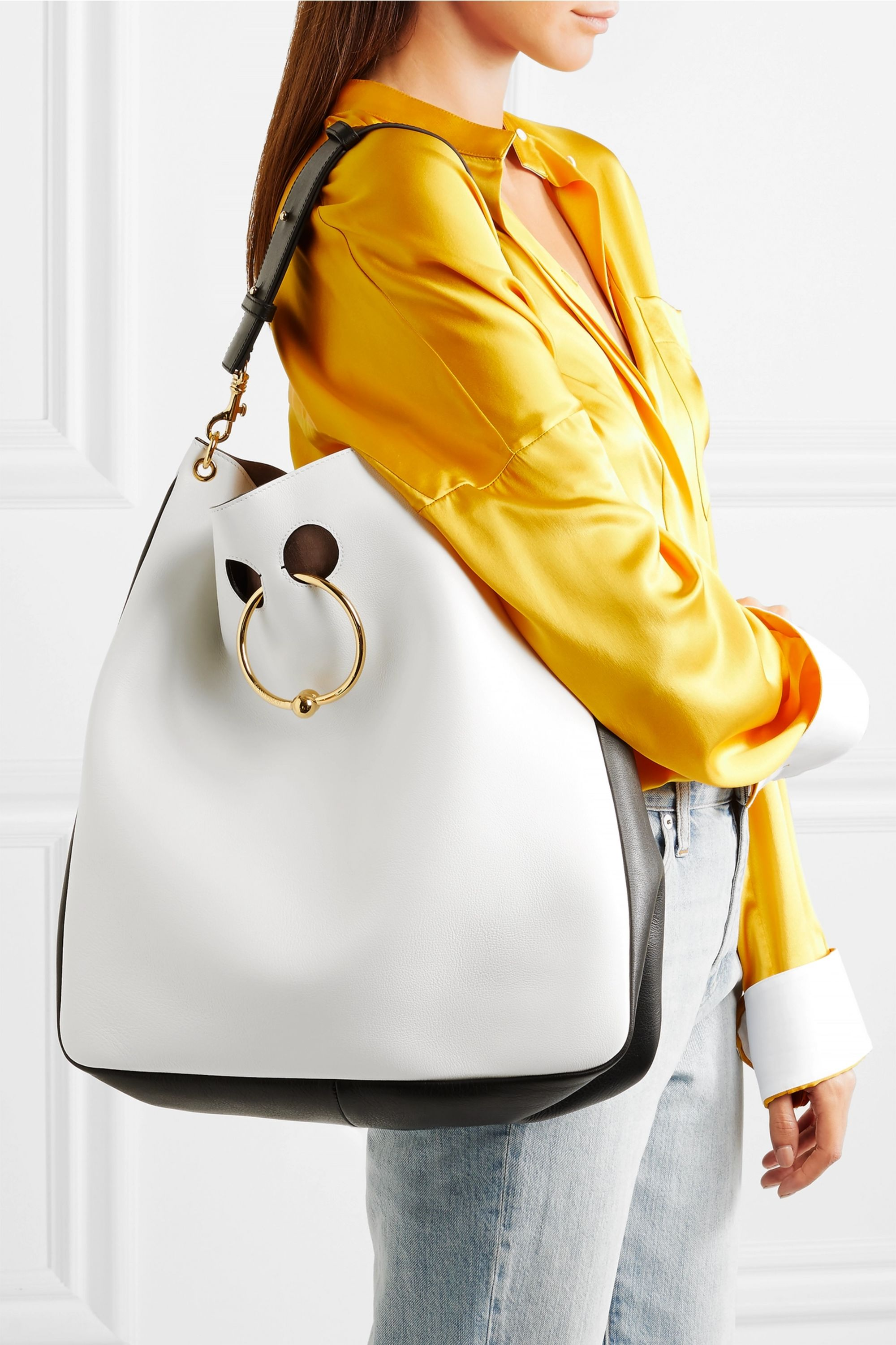 JW Anderson Pierce Hobo two-tone leather tote