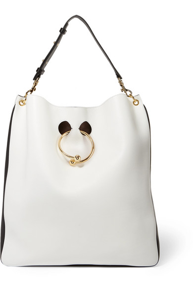 J.W.Anderson - Pierce Two-tone Leather Tote - White