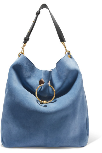 J.W.Anderson - Pierce Hobo Suede And Leather Shoulder Bag - Blue