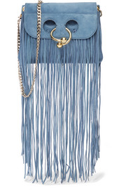 J.W.Anderson Pierce mini fringed suede shoulder bag