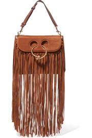 J.W.Anderson Pierce medium fringed suede shoulder bag