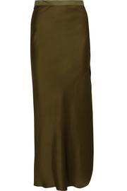 Maya silk-satin maxi skirt