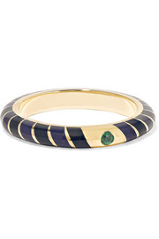 Alice Cicolini Memphis Candy 14-karat gold, tourmaline and enamel ring