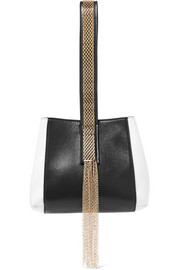Lanvin Chaine two-tone leather wristlet bag