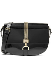 Lanvin Lien smooth and patent-leather shoulder bag