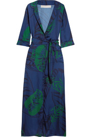 Maria printed satin maxi dress