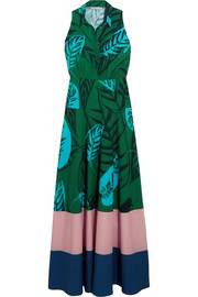 Borgo De Nor Paloma printed cotton-gabardine maxi dress