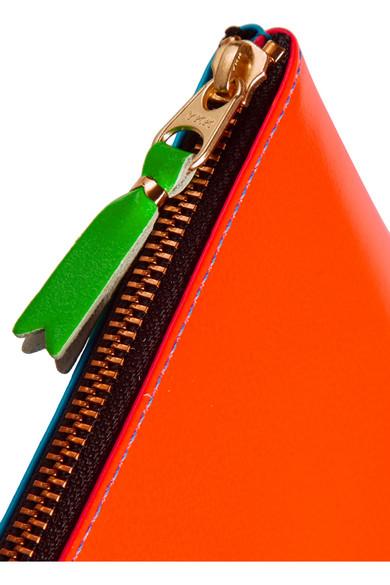Comme des Garçons Super Fluo Beutel aus neonfarbenem Leder