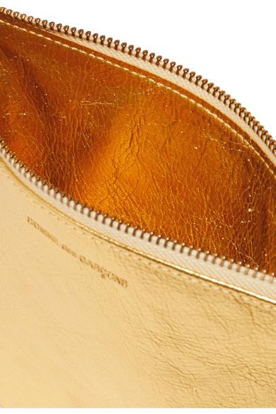 Comme des Garçons Beutel aus strukturiertem Metallic-Leder Verkauf Browse tG1Au