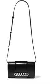 Infinity chain-trimmed leather shoulder bag