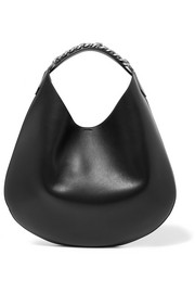Infinity large chain-trimmed leather shoulder bag