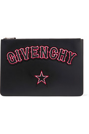 Givenchy Appliquéd leather pouch