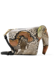 Elephant python shoulder bag