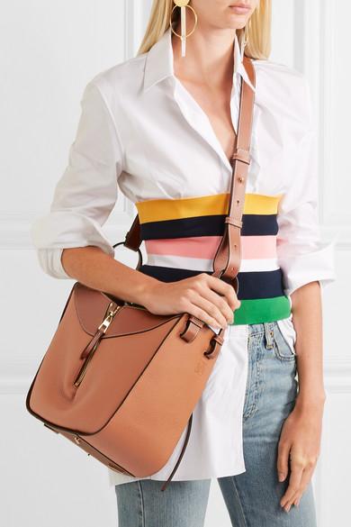 Loewe Hammock Small Textured Leather Shoulder Bag Net