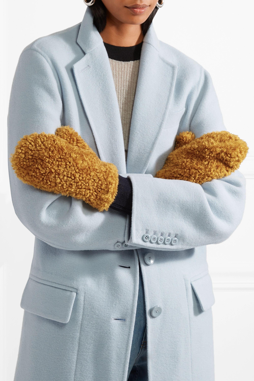 Marni Faux fur mittens