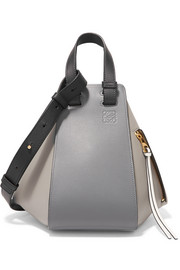 Loewe Hammock color-block textured-leather tote