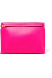 Loewe T two-tone leather pouch