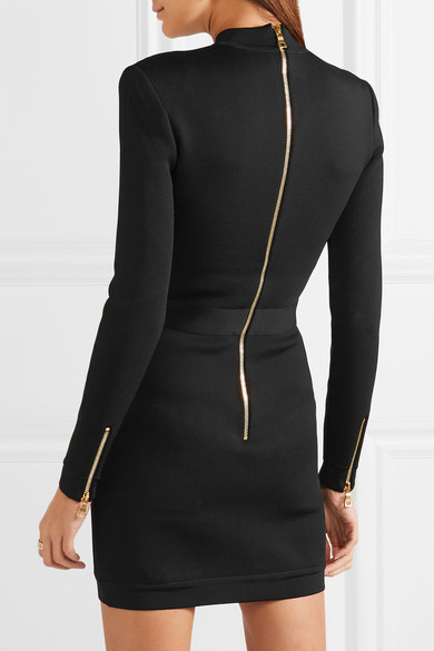 37b6d2981a58 Balmain. Lace-up stretch-jersey mini dress. £1