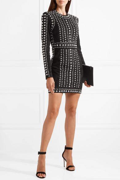 18e2b14696 Balmain   Studded suede mini dress   NET-A-PORTER.COM