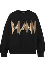 Balmain Oversized printed cotton-jersey sweatshirt
